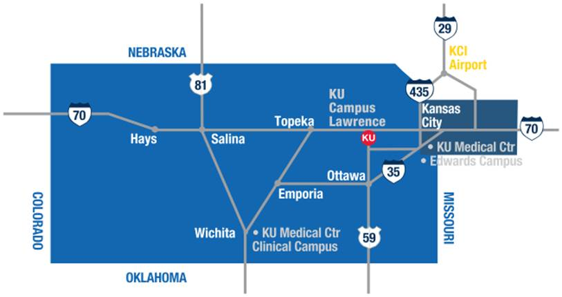 State map of Kansas highways